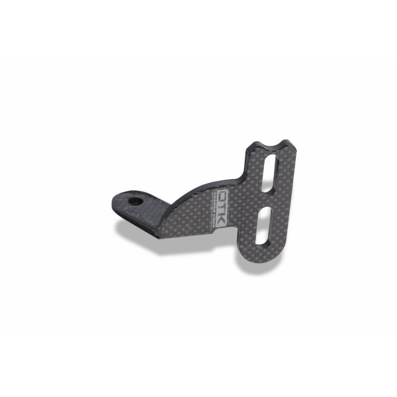 Attacco supporto culla marmitta KZ in fibra di carbonio