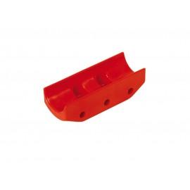 Protezione in nylon per disco freno Ø 206 x 16 mm Rossa