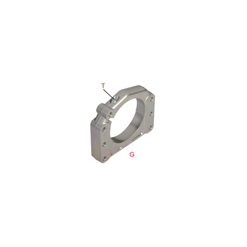 Supporto assale Ø 40 - 50 mm AL forgiato 3  posizioni  -  centrale OK-OKJ